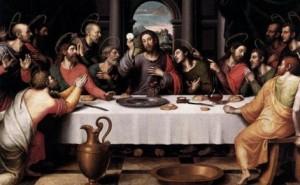 Ікона, на якій в час Тайної Вечері зображена Чаша з Валенсії