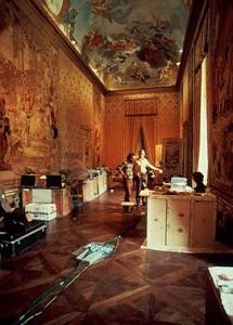 Кімната, в якій було обладнання для дослідження Плащаниці в 1978 році