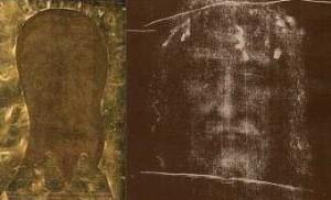 Копія покривала Вероніки і Лице з Плащаниці