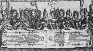 Листівка з показу Плащаниці 1684 року