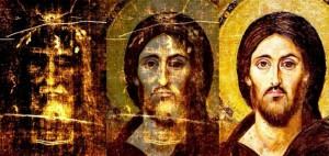 Лице з Плащаниці та ікона Христа 5 століття з монастиря святої Катерини