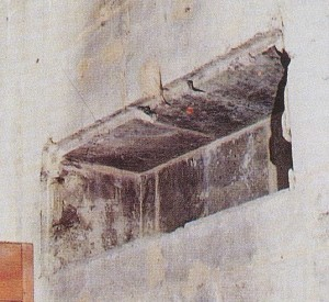 Ніша в соборі Чамбері, де плащаниця зберігалася з 1502 по 1532 роки