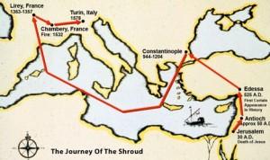 Подорож Туринської Плащаниці за 16 століть