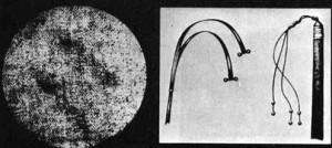 Римський батіг з тягарцями флагрум і сліди від нього на тілі з Плащаниці