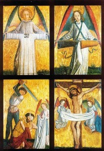 Святині з Ахена на готичній іконі 14 - 15 століть
