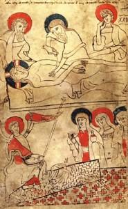 В Кодексі Прея полотно Плащаниці зіткано ялиночкою