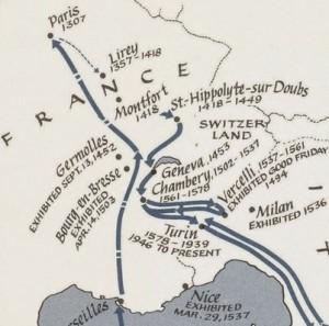 Європейська подорож Туринської Плащаниці