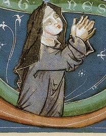 Зображення Агнеси Богемської (Чеської) на старовинній мініатюрі