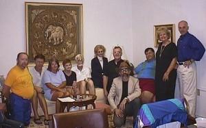 Зустріч сіндологів в Техасі в 1997 році - справа на ліво - А.Дрейзбах, Ян Вілсон, Ю.Вілсон, П.Баклін, Р. Баклін, І.Пічек, Ф.Брінкман, Б.Шворц, М.Мінор, К.Піплз, Р.Орарео