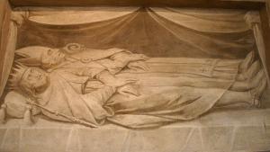 Архієпископ Ансельм в одній могилі з королем Бернардом