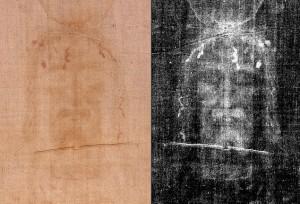 Обличчя з Туринської Плащаниці - позитивне і негативне зображення