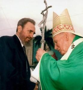 Іоанн Павло ІІ і лідер Куби Фідель Кастро