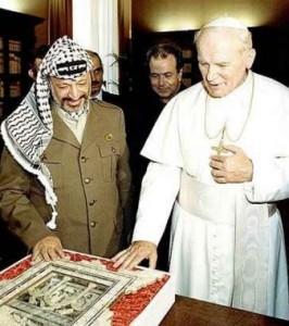 Іоанн Павло ІІ та Ясир Арафат