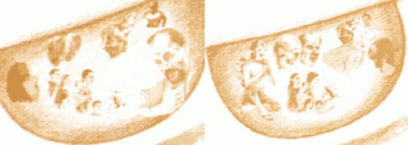 Зображення людей в очах Божої Матері