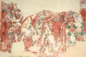 Фреска 14 століття із сценою вбивства святого
